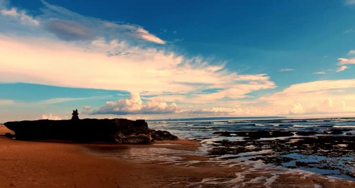 The Batu Bolong Beach in Canggu, Bali.