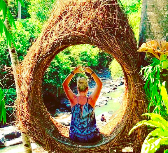Jules Thomson, of Indah Escapes, enjoying the nature in Bedugul, Bali.