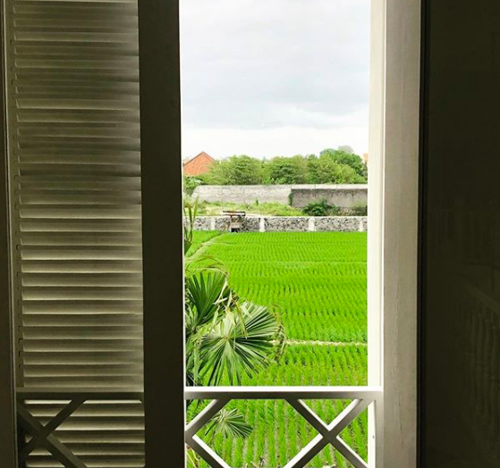 The view out the front door of Jules the Expat's Villa in Sanur, Bali.