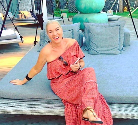 Jules Thomson, of Indah Escapes, relaxing at the W Hotel in Seminyak, Bali.
