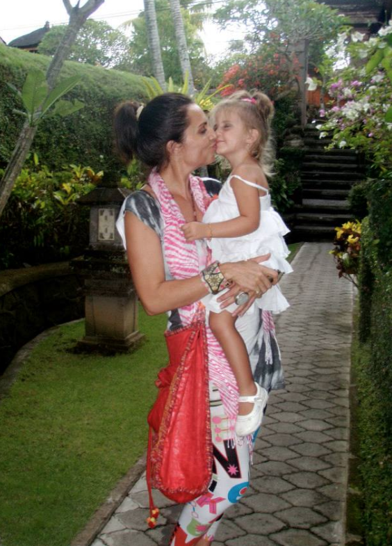 Lee Anna, who has lived in Bali for 9 years, with her daughter, Shanti.