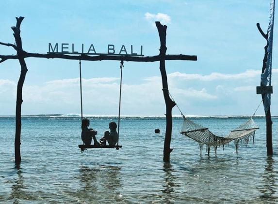 Bali Island Swing in Water
