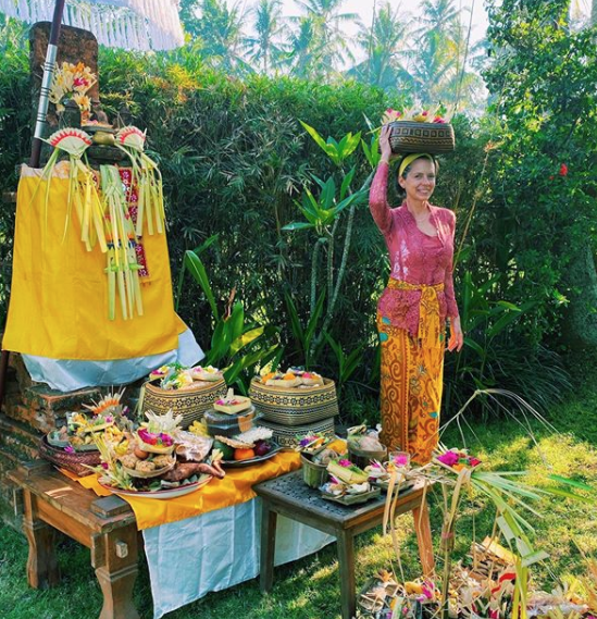 Balinese offering temple