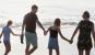 Family of four on Canggu Beach in Bali