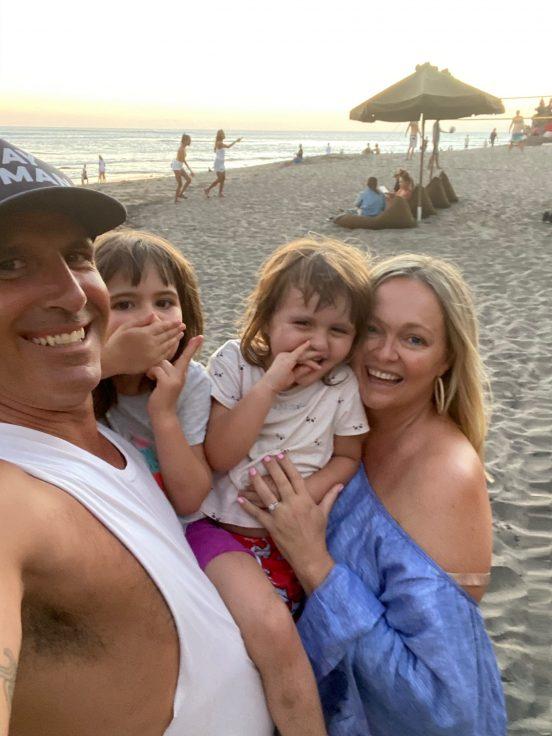 Janine and family in Canggu beach Bali