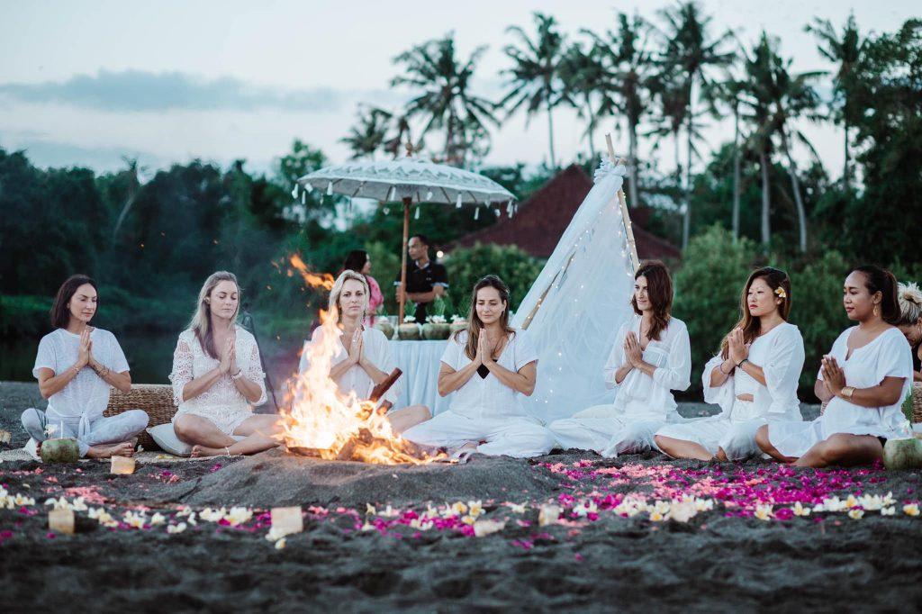 Escape Haven Retreat Bali Yoga on the beach