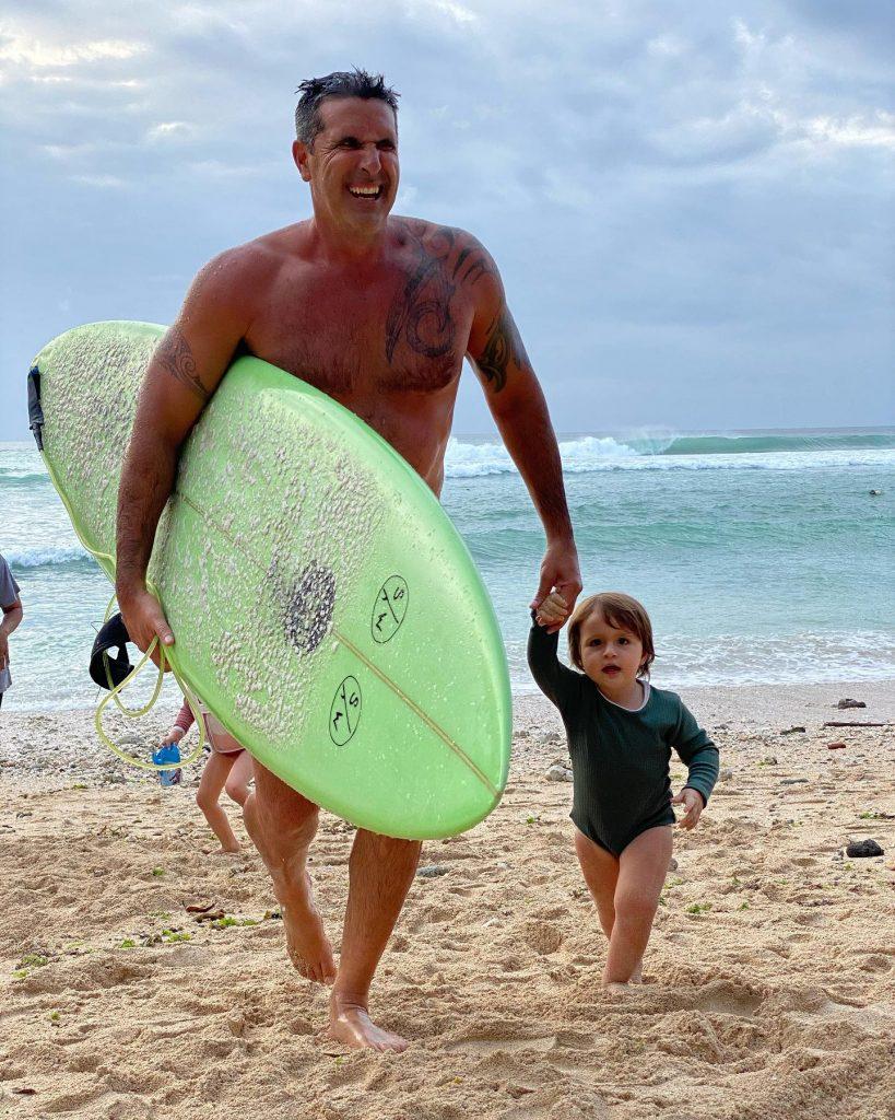Trent Lullah Surfing at Canggu Beach Bali